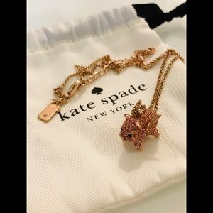 🎀 Brand New Kate Spade Pink Pig Necklace 🎀